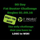 90 DayFat Buster Challenge-Instagram AD